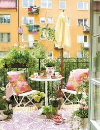 Small Balcony Garden With Dining Room