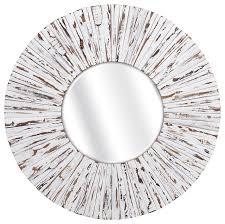 sa white wooden mirror beach style