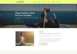 Responsive Website Template Custom Ajna A Yoga Instructor Responsive Website Templates Ease Template
