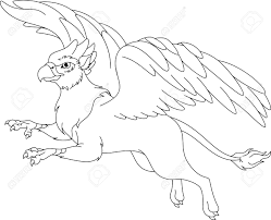 Griffin Coloring Page Royalty Free Cliparts Vectors And Stock