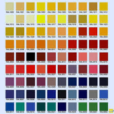 Ral Colour Chart 2016 Custom Painted Commercial Luminaires In Ral Colors