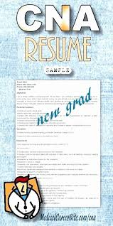 Resume Examples For Cna Magnificent Cna Resume Samples 48 Unique Nursing Assistant Resume Examples Cna
