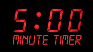 5 Minute Countdown Timer Alarm Clock Youtube