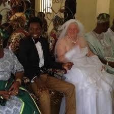 White granny love black