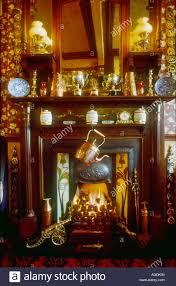 Viktorianische Kamin Mit Dem Jugendstil Kachelofen Inset