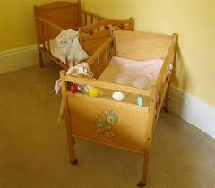large wooden crib vintage doll bed whitney bros co