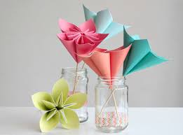 Glace Paper Flower Make A Bouquet Of Beautiful Paper Flowers For Mothers Day