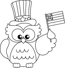 Small Picture Patriotic coloring pages cute owl ColoringStar