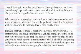 Wedding Speech Example Sister Wedding Speech Text Image Speeches QuoteReel 22