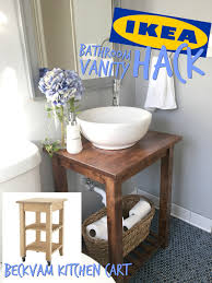 Bath Vanity Ikea Ikea Hack Bathroom Vanity With Bekvam Kitchen Cart The Handy