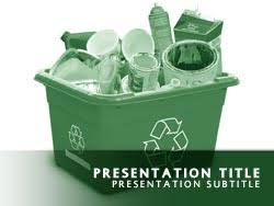Royalty Free Recycle Powerpoint Template In Green