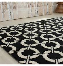 black and cream rug. Arlo Buckle Rug Black And Cream