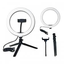<b>10 Inch</b> Mobile Live <b>LED</b> Ring Light with phone Mounting for ...