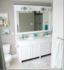 a large builder grade mirror