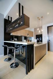 Modern Kitchen With Bar Modern Kitchen Design With Integrated Bar Counter For A Small