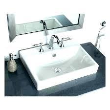 kohler drop in bathroom sinks rectangular memoirs white sink with overflow fl kohler drop in bathroom sinks