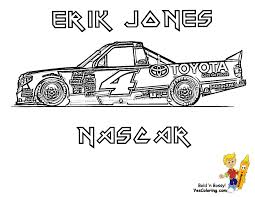 Small Picture Nascar Truck Erik Jones Coloring Yes Gekimoe 16173