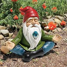 garden knomes. Simple Knomes Amazoncom Design Toscano Zen Garden Gnome Statue 8 Inch Polyresin Full  Color U0026 Outdoor Throughout Knomes I