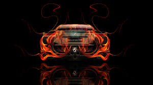 lexus lfa back fire abstract car