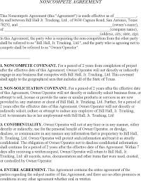 Non Compete Template Contract Free Business Agreement Form Download ...