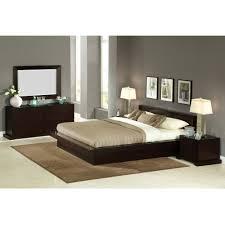 Lifestyle Furniture Bedroom Sets Lifestyle Solutions Zurich King Size Platform Bedroom Set 5pc