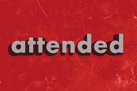 Image result for attended word