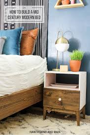 how to build a mid century modern bed