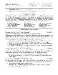 Icu Nurse Cover Letter Example Nursing Resume New Grad Resume