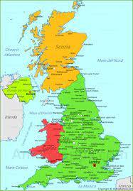 Mappa Regno Unito | Cartina Regno Unito - AnnaMappa.com