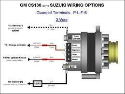 gm 3 wire alternator wiring diagram gm 3 wire alternator 3 Wire Switch Diagram gm cs130 suzuki wiring options guarded terminals p l f s 3 wire gm 3 wire alternator wiring diagram wire 3 way switch diagram
