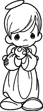 Small Picture Precious Moments Boy Angel Coloring Page Wecoloringpage