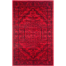 safavieh adirondack red black 3 ft x 5 ft area rug
