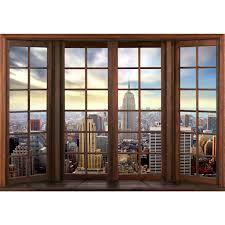 Fenster Zu New York Vlies Foto Wandtapete Xxl Dekoration Runa 9384bp