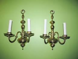 24 early american lighting wall sconces pair 2 candle
