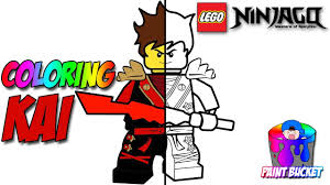 Lego Ninjago Kai The Red Ninja Coloring Page The Lego Ninjago Movie Coloring Book For Kids