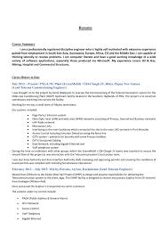 Telecommunication Resume Resume Singaporecv