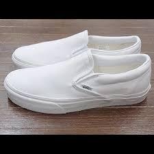 vans shoes white slip ons. vans shoes - white slip on ons
