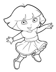 Dora For Coloring Dora Coloring Pages Nick Jr Trustbanksurinamecom