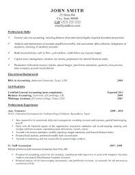 Sample Resume Accounting Clerk Resume Examples For Accounting