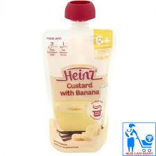 Nơi bán Heinz Váng sữa ăn dặm cho bé từ 6 tháng tuổi vị chuối và kem trứng  Banana Custard 120g giá rẻ, uy tín, chất lượng