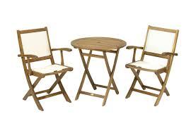wooden folding 2 seater bistro set 70cm