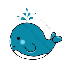 ปลาทะเลการ์ตูนปลาวาฬสาดสีน้ำเงิน | องค์ประกอบกราฟฟิก แบบ AI ดาวน์โหลดฟรี -  Pikbest