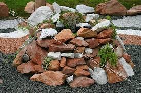 pile of garden rocks. Also See Rock Gardens