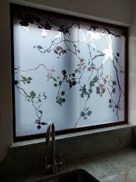 Flower Design Glass Door Window Film Window Glass Design Kitchen Glass Doors
