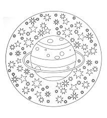 Solar System Mandala Easy Mandalas For Kids 100 Mandalas Zen