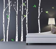 birch tree wall decal canada uk with