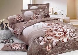fl comforter bedding set brown king queen size comforters sets bed linen sheet quilt duvet cover bedspread bedclothes bedsheet flower bed in a bag home