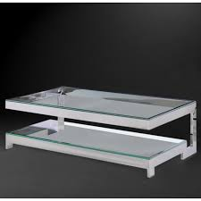 silver finish stainless steel and glass top