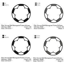 soccer ball monogram frame