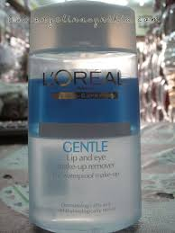 l oreal gentle lip and eye make up remover for waterproof make up review angelina cynthia